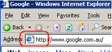 Icon displayed correctly in Internet Explorer 6