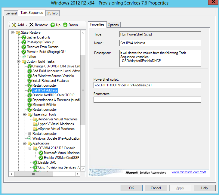 MDT Task Sequence-Set-IPV4Address.ps1
